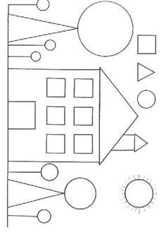 Shape Worksheets For Preschool, Shapes Worksheets, Preschool Learning Activities, Kindergarten Worksheets, Preschool Activities, Kids Learning, Shapes For Kids, Math For Kids, Art Drawings For Kids
