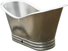 Nickel Platted Copper Bathtub
