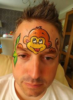 monkey face paint -