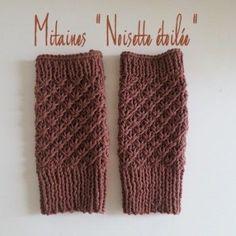 """Mitaines """"Noisette étoilée"""", le tuto tricot."""