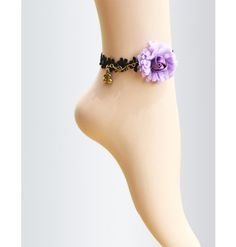#Black Lace Flower #Anklet. An awesome collection of Lace #fashion,