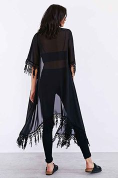 Witches of East End: Season 2 Episode 3 Wendy's Black Lace Kimono   ShopYourTvShopYourTv