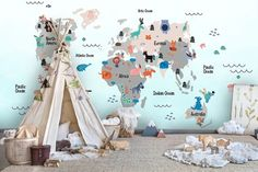 3D Cartoon Animals Map Of The World Sculpture Wall Mural Wallpaper 45 – Jessartdecoration Playroom Wallpaper, Playroom Mural, Paper Wallpaper, Self Adhesive Wallpaper, Animal Wallpaper, Wall Wallpaper, Wall Murals, Kids Wallpaper, Wallpaper Ideas