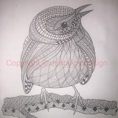 My second template from Ben Kwok over at Ornation Creation. I'm going to be going through all the birds. This one is a Prarie Warbler. #dubbybydesign #zentangle #zentangleinspiredart