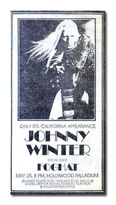 | Johnny Winter Story Timeline 1973 career and details of highlights for ...