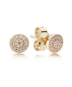 cd87d1156 PANDORA 14Ct Gold Radiant Elegance Earrings Pandora Earrings, 14k Earrings, Pandora  Jewelry, Pandora