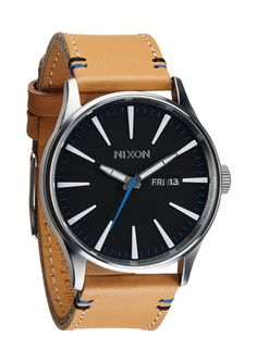 The Sentry Leather - Natural / Black | Nixon