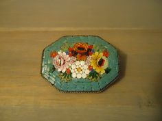 Image detail for -Vintage mosaic pin brooch victorian Italy by romanticcountry