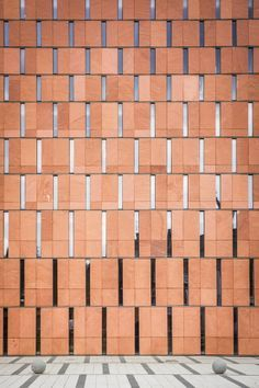 Katowice scientific information centre and academic library - facade Detail Architecture, Brick Architecture, Contemporary Architecture, Interior Architecture, Industrial Architecture, Brick Design, Facade Design, Facade Pattern, Brick Facade