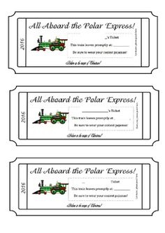 Polar express printable ticket print on yellow paper and make a customize and print your own polar express tickets holiday activities on a budget maxwellsz