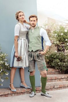 Wiesn-Trends 2018 for him and her - a great outfit for a couple. - Wiesn Look ♥ Parfum. Oktoberfest Outfit, Trends 2018, Fashion Clothes, Fashion Outfits, Fashion Trends, Pretty Outfits, Cute Outfits, Look 2018, Dirndl Dress