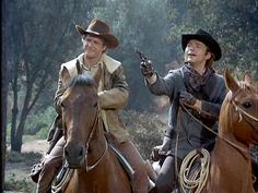 "Alias Smith and Jones--Hannibal Heyes and Kid Curry, two of the most wanted outlaws in the history of the West, are popular ""with everyone except the railroads and the banks"", since ""in all the trains and banks they robbed, they never shot anyone"".--I LOVED THIS WESTERN SHOW"
