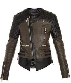 Balenciaga Quilted shoulder biker jacket