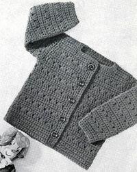 Girls Crocheted Cardigan Pattern