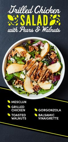 Grilled Chicken Salad with Pears and Walnuts | 12 Easy Salads You Can Pack For Lunch Again And Again