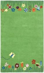 Safavieh Handmade Children's Summer Grass Green N. Z. Wool Rug (8' x 10')