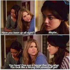 Haha, you ca always count on Hanna to make you feel better!
