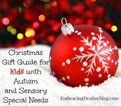 Christmas Gift Guide for Kids with Autism and Sensory Special Needs at embracingdestinyblog.com