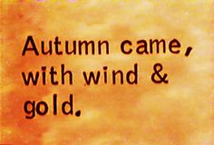 Exactly how autumn should come.