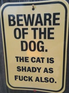 The cat. Look out for that dick.