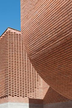 New Yves Saint Laurent museum opens in Marrakech Lifestyle from CTV News.yves saint laurent museum by studio KO opens in marrakesh.New Yves Saint Laurent museum opens in Marrakech Chicago Sun Times. Magazine Architecture, Architecture Design, Tectonic Architecture, Yves Saint Laurent, Marrakech Morocco, Brick Detail, Brick Design, Brick Patterns, Ancient Architecture