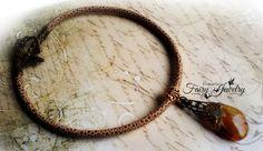 Collana agata corta chiusura tbar bronzo libellula vintage bohemian, by Evangela Fairy Jewelry, 17,00 € su misshobby.com