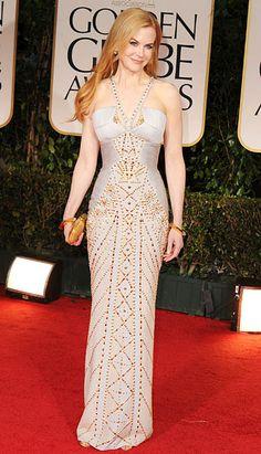 Nicole Kidman actually not looking like crap! (Golden Globes 2012)