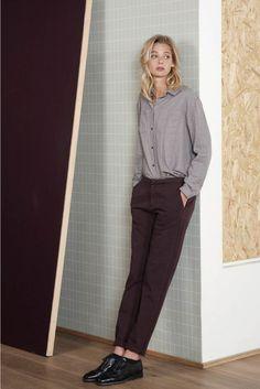 Pantalon chino vlaky mûre mûre - pantalon femme - harris wilson 2 Harris Wilson, Normcore, Suits, Style, Fashion, Swag, Moda, Stylus, La Mode
