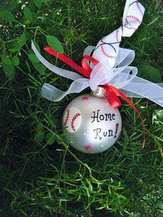 Ornamento del béisbol para cumpleaños o premio o Navidad - personalizada deportes Fan ornamento, inauguración, béisbol, partido deportes