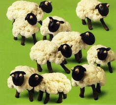 When I see this all I can think of is SHAUN THE SHEEP