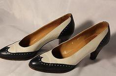 RALPH LAUREN - Saddle Spectator Pump Heels - Vintage