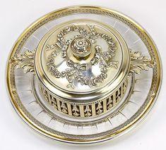 Antique French Sterling Silver 3-Piece Condiment or Caviar Serving Piece - Puiforcat, Paris