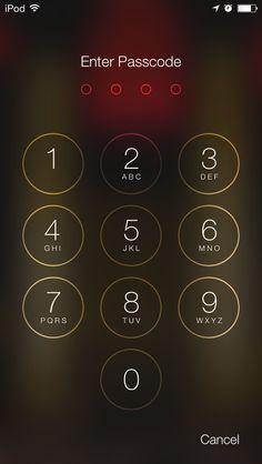 The #iOS 7 passcode screen