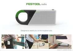 Festool Radio on Industrial Design Served