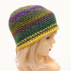 Gradient Green Blue Yellow Adult Crochet Hat £8.00