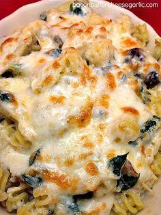 Chicken Florentine Pasta Casserole...