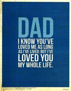 Fir the wonderful dad in my life