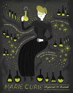 Women in Science - Marie Curie Poster on www.amightygirl.com