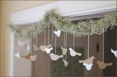 bridal dove hangings