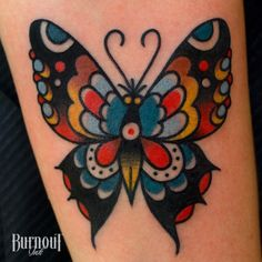 BURNOUT INK : Butterfly Tattoo by Christian Otto