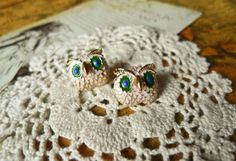 Colored Glaze Owl Earrings
