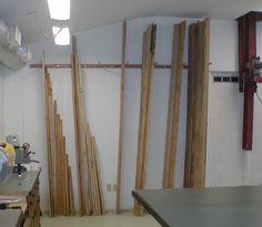 Lumber Rack- take two *w/pics* Lumber Storage Rack, Diy Storage Rack, Lumber Rack, Firewood Storage, Tool Storage, Garage Storage, Workshop Design, Workshop Storage, Garage Workshop