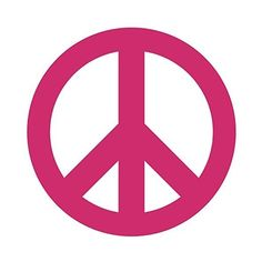 Peace Sign Symbol Car Window Wall Laptop Decal Sticker (3in X 3in,... (135 THB) ❤ liked on Polyvore featuring home, home decor, pink home decor, pink peace sign, car home decor, pink flamingo home decor and car interior decor