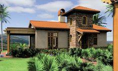 Plano Arquitectónico y Fachada de Casa de Campo de un nivel con una recámara o dormitorio diseñado en 15.00 metros de frente por 9.50 metros de fondo. | Proyectos de Casas