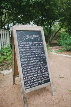 chalkboards for weddings   Tip: Get the help of a calligrapher to write on your boards if you ...