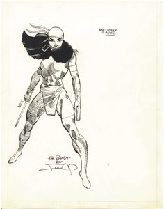 Ryall's Files - Official Handbook of the Marvel Universe illos by Frank Miller (DD and Bullseye inked by Joe Rubinstein). In our coming Frank Miller's Daredevil Artifact Edition.