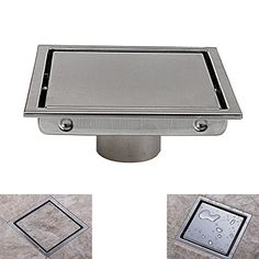 Superior Best Price On Square Shower Floor Drain With Tile Insert Grate   Made Of  Sus304 Stainless