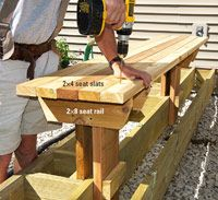 how to do the bench seating for the deck.