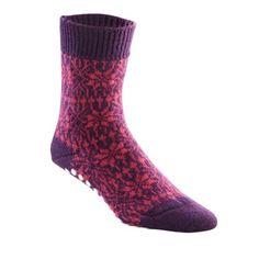 FootSmart Men`s / Women`s Treaded Wool Snowflake Slipper Socks