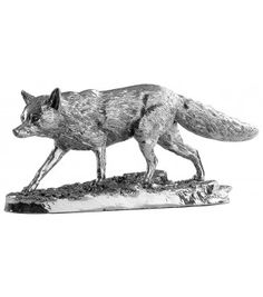 sterling silver fox for your own silver fox!